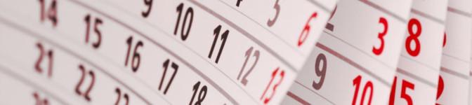 Cursus agenda 2016 - 2017